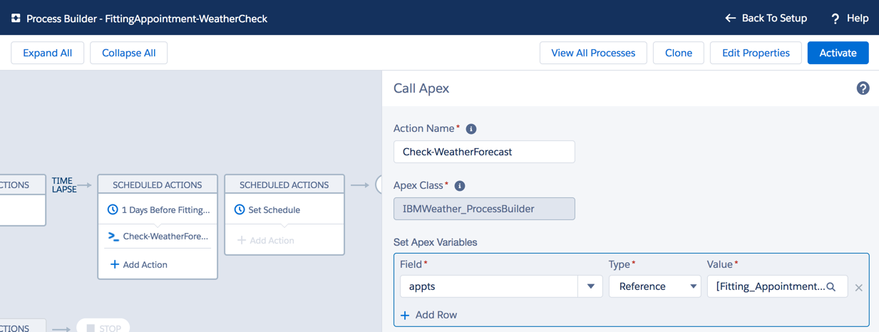 Weather Process Builder