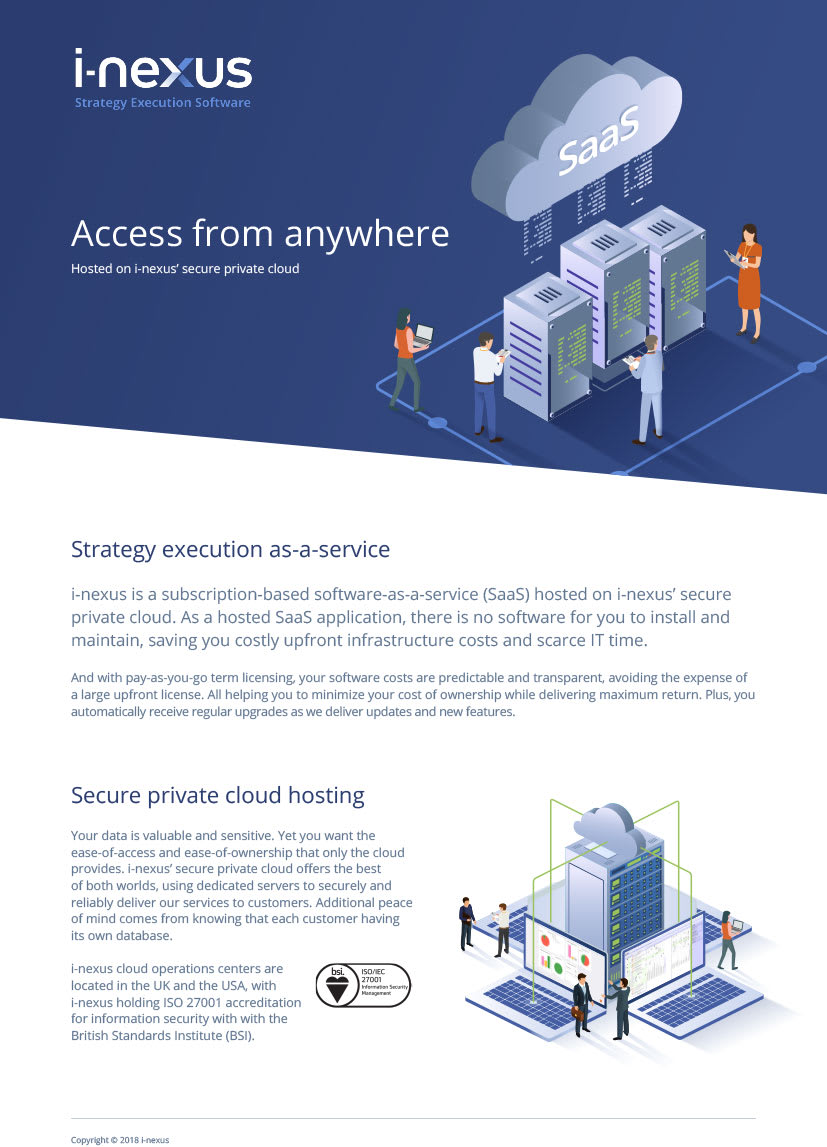 i-nexus Strategy-Execution-as-a-Service Brochure