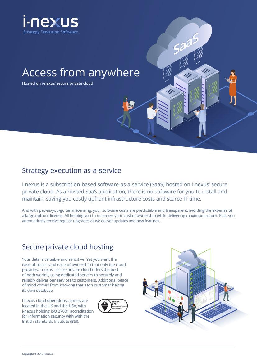 i-nexus Strategy-Execution-as-a-Service Brochure