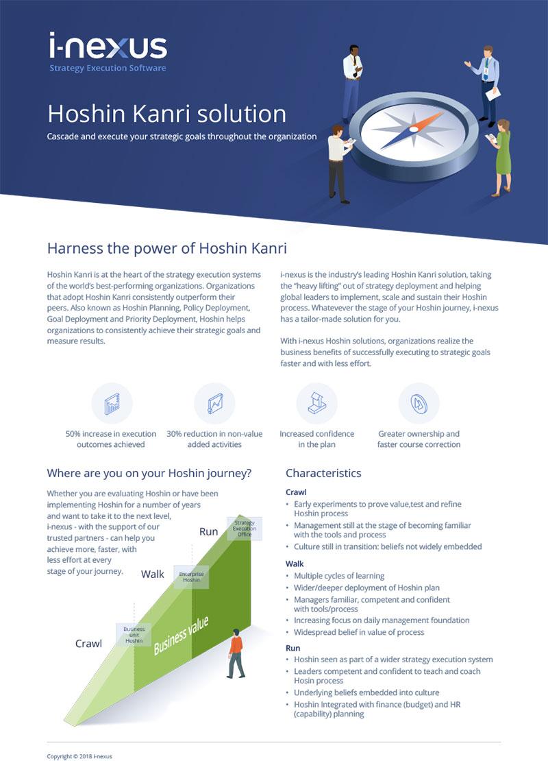 i-nexus Hoshin Kanri Solution Factsheet
