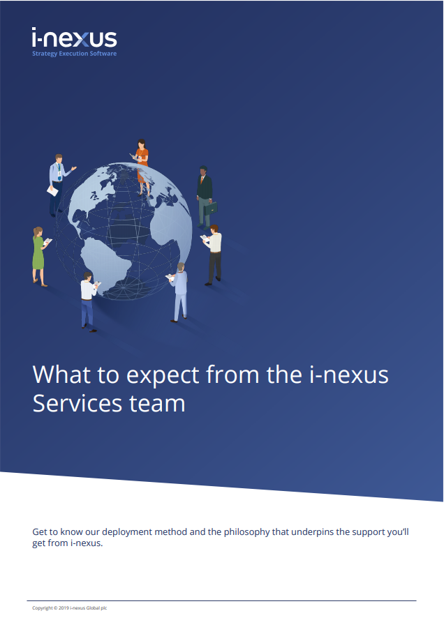 What to expect from the i-nexus Services team