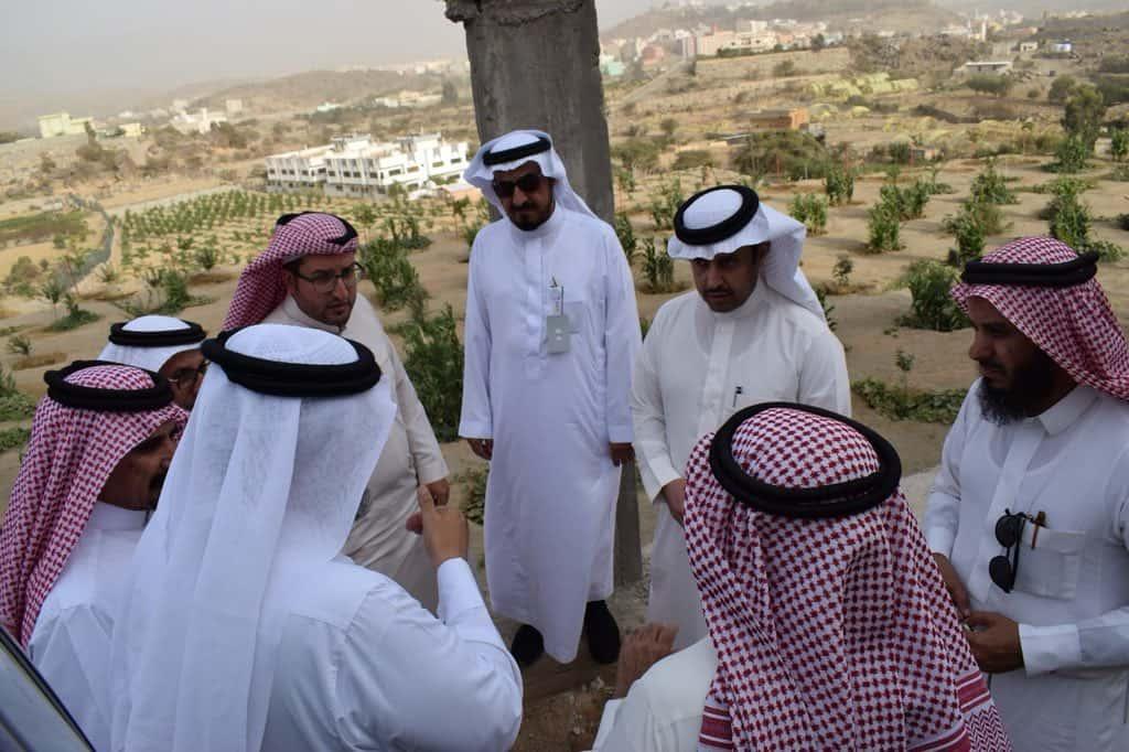 أعضاء مجلس الإدارة في زيارة لمواقع المدرجات الزراعية بمحافظة بلجرشي