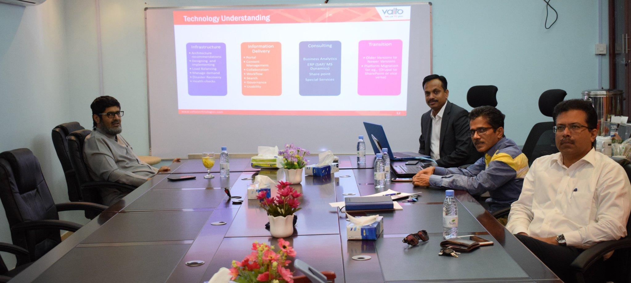 إجتماع مع شركة Valto العالمية لتقنية المعلومات