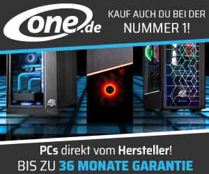 ONE GAMING PCs mit 3 Jahren voller Herstellergarantie