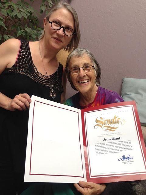 Carol with Joani Blank