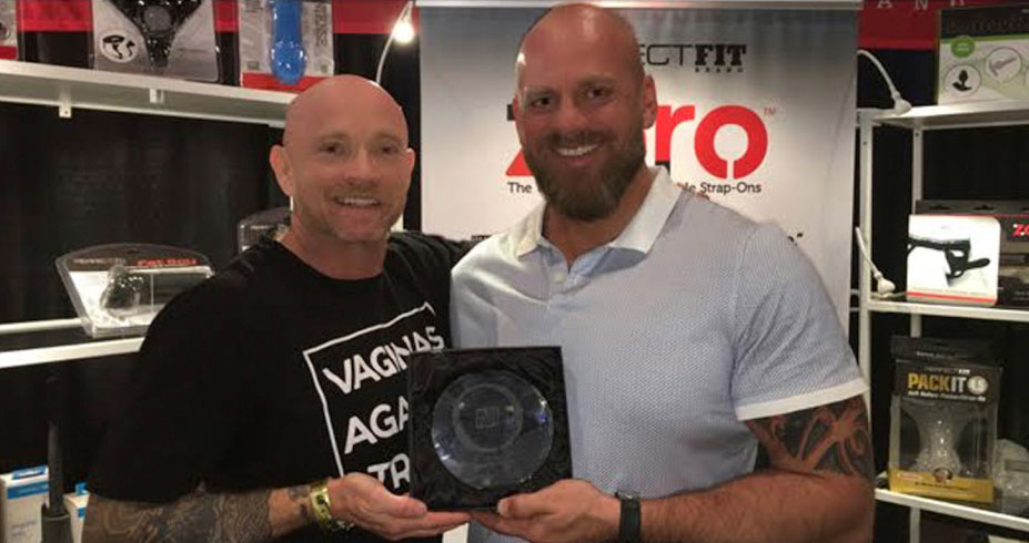 Buck Angel and Steve Callow with O Award for the Buck Off