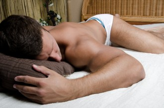 Between the sheets... and cheeks