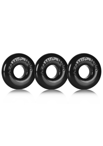 Ringer Cockring 3 Pack - Small - Black