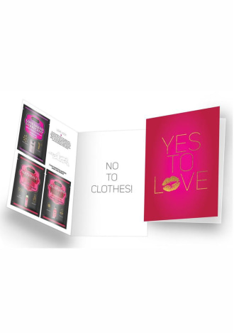 """Naughty Notes Greeting Card """"Yes To Love"""""""