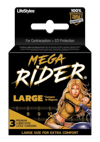 Mega Rider Condoms - 3 Pack