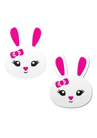 Cute White Bunny Nipple Pasties
