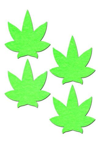 Glow in the Dark Green Leaf Pasties