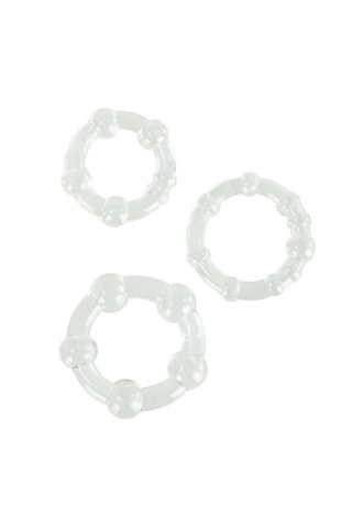 Island Cockrings 3 Pack - Clear