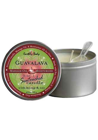 3 In 1 Suntouched Round Massage Oil Candle - Guavalava