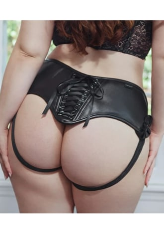 Curvy Collection Pleather Corsette Strap-On Harness