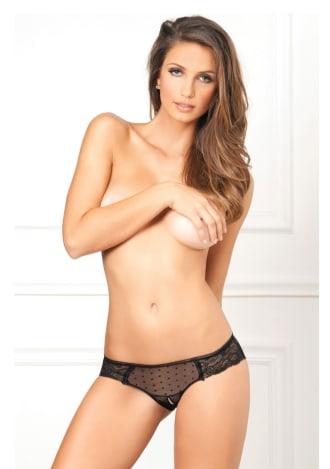 Crotchless Lace n' Dots Panty