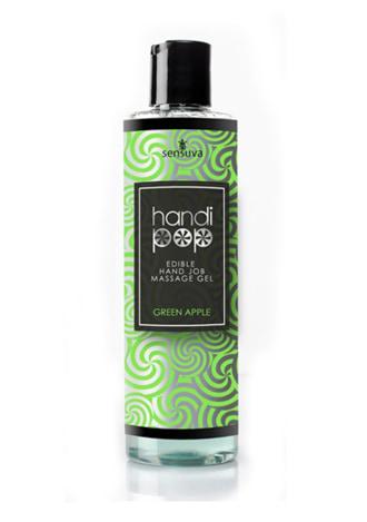 Sensuva Handi Pop Handjob Massage Gel - Green Apple