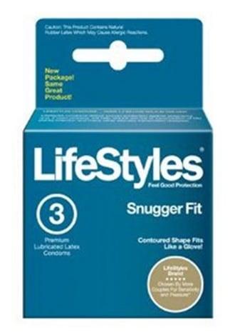 Lifestyles Snugger Fit Condoms - 3 Pack