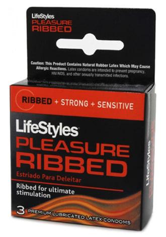 Lifestyles Pleasure Ribbed Condoms