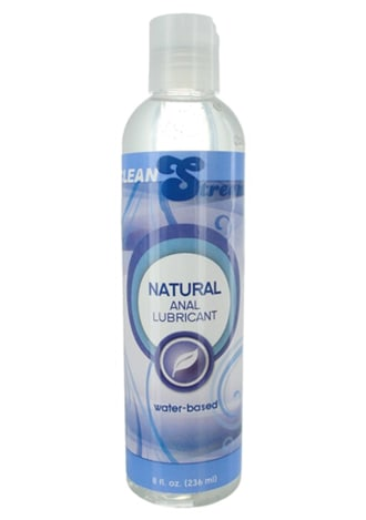 Natural Water-Based Anal Lubricant - 8 oz