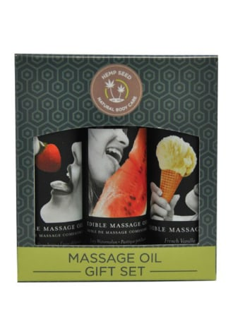 Edible Massage Oil Gift Set  - Sweet Delights