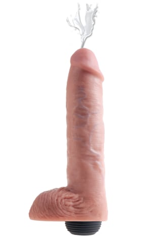 """King Cock 11"""" Squirting Cock with Balls"""