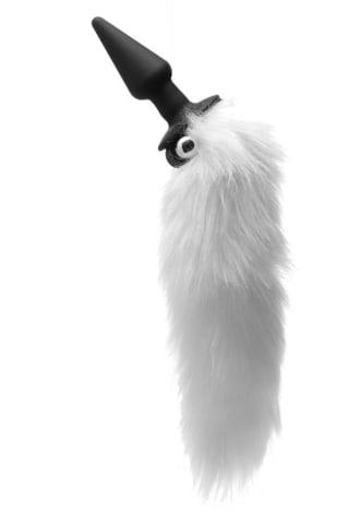 Tailz White Fox Tail Vibrating Anal Plug