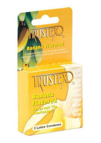 Trustex Flavored Lubricated Condom 3 Pack - Banana