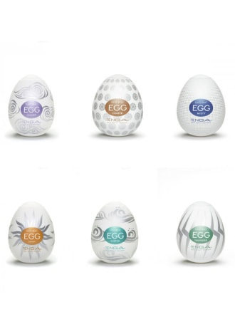 Tenga Easy Beat Egg 6-Pack - Hard Boiled