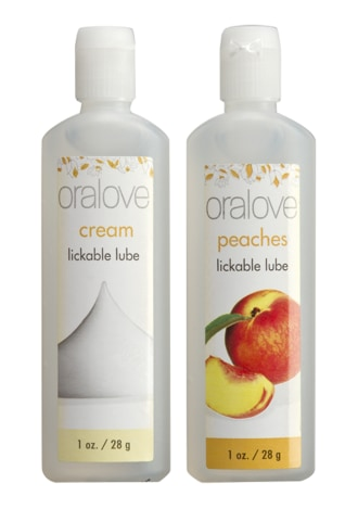 Oralove Dynamic Duo Lickable Lubes - Peaches and Cream