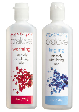Oralove Dynamic Duo Lickable Lubes - Warming and Tingling