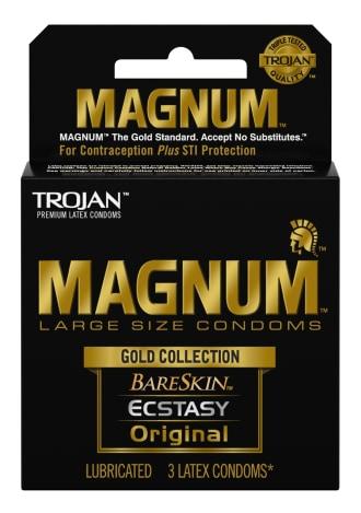 Trojan Magnum Gold Collection Condoms - 3 Pack