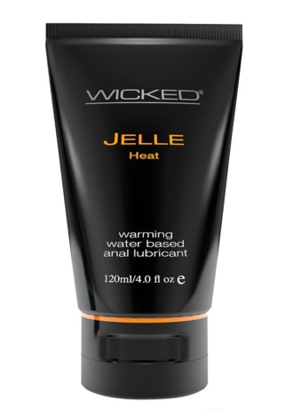 Wicked Jelle Water Based Anal Lubricant - Heat