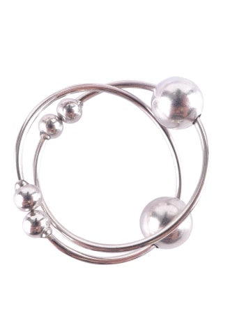 Fetish Fantasy Series Silver Nipple Bull Rings