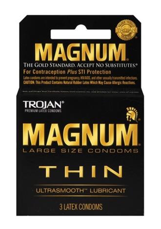 Trojan Magnum Thin Condoms - 3 Pack