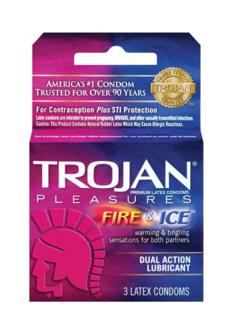 Trojan Fire and Ice Condoms - 3 Pack