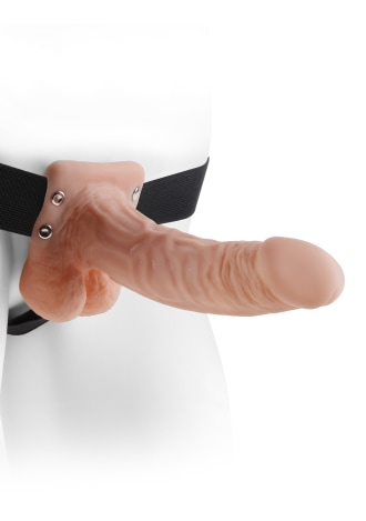 """Fetish Fantasy Series 7"""" Hollow Strap-On with Balls"""
