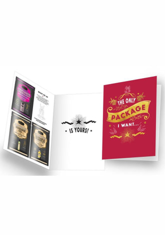 """Naughty Notes Greeting Card """"The Only Package I Want"""""""