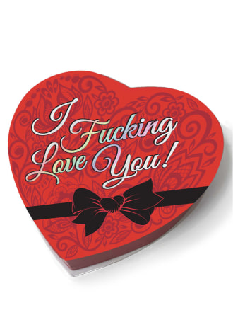 """""""I Fucking Love You!"""" Heart Shaped Box of Chocolates"""