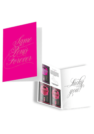 """Naughty Notes Greeting Card """"Same Penis Forever"""""""