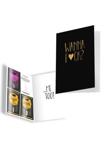 """Naughty Notes Greeting Card """"Wanna Fuck?"""""""