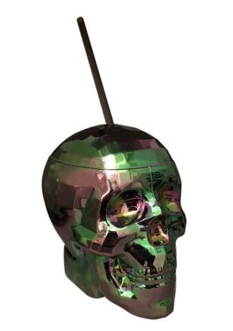 Oil Slick Disco Skull Cup