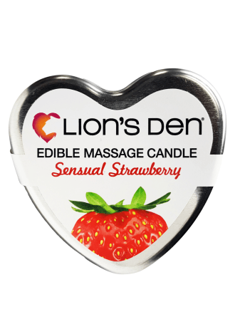 Lion's Den Strawberry Scented Massage Candle
