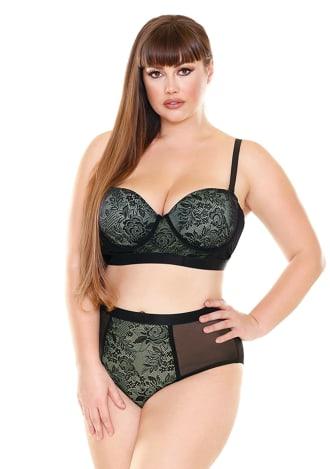 Katarina Longline Bra and Panty Set - Plus Size
