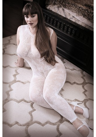 Worth the Wait Floral Bodystocking - Queen Size