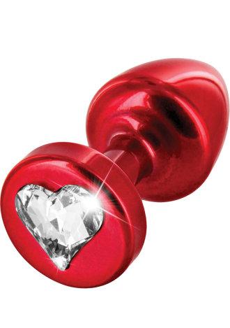 Diogol Anni R Heart T1 Cristal Buttplug With Swarovski Crystal