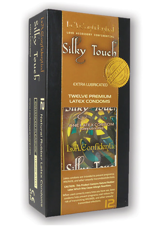 L.A. Confidential Silky Touch Extra Lubricated Condoms - 12 Count