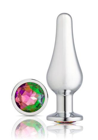 Gems Silver Chrome Tall Plug - Large