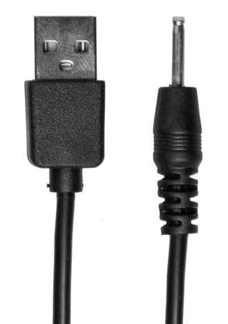 USB Pin Charger Cord (Vibrating Kink Pumped) - Black