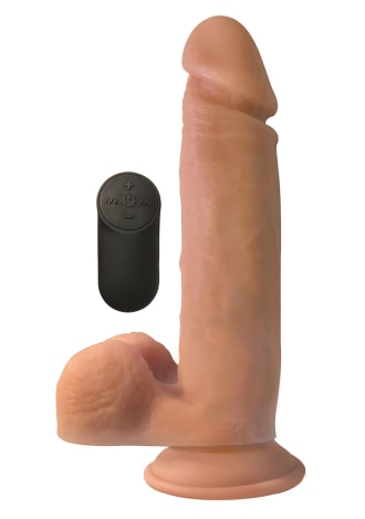 "Big Shot 9"" With Balls Silicone Vibrating Dildo"